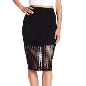 Kylie Womens Colorblock Pencil Skirt Kendall